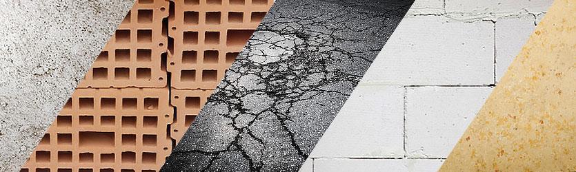 Asphalt & abrasive Materialien