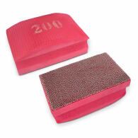 Diamant-Handschleifpad Set 3-tlg. Körnung 50+100+200