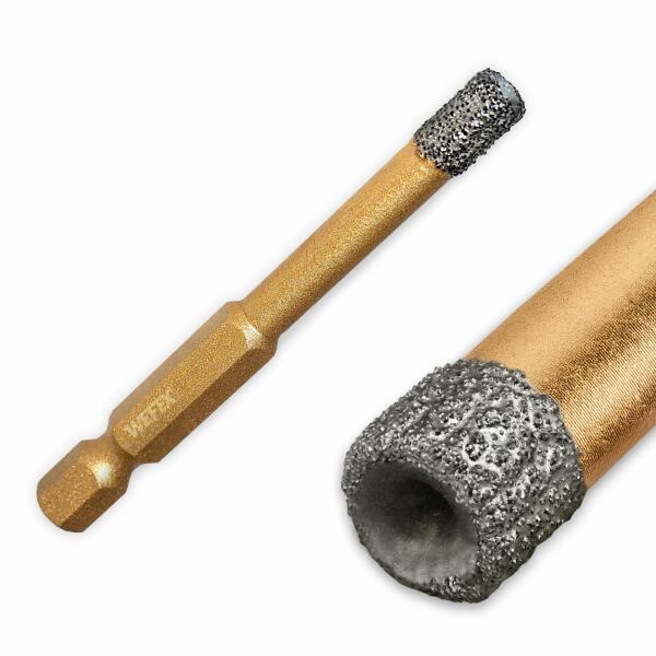 "Diamant-Fliesenbohrkrone Vakuum-Profi Ø 6 - 14 mm 1/4"" Sechskant"