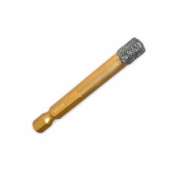 "Diamant-Fliesenbohrkrone Vakuum-Profi Ø 8 mm 1/4"" Sechskant"