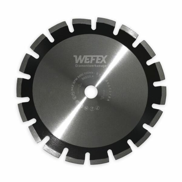 Diamant-Trennscheibe Laser-Asphalt 15 mm Segment Ø 350 mm Aufnahme 25,4 mm