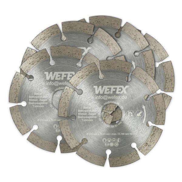Spar-Set: 5 Stk. Diamant-Trennscheibe Eco-Beton Ø 125 mm Aufnahme 22,2 mm
