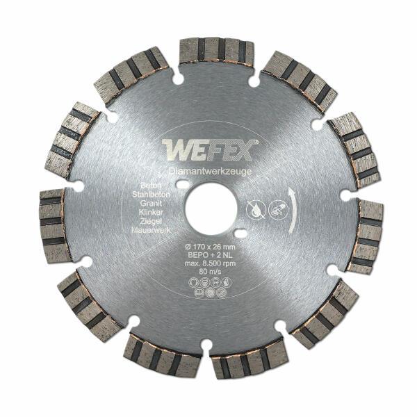 Diamant-Trennscheibe Laser-Turbo Ø 170 mm für Bepo FFS 171SE