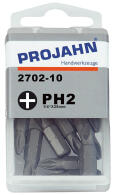 PROJAHN Plus 1/4 Bit PH2 L25 mm Phillips Nr. 2 10er-Pack