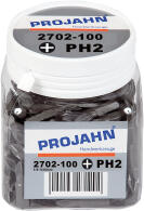 PROJAHN Plus 1/4 Bit PH2 L25 mm Phillips Nr. 2 100er-Pack