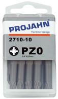 """PROJAHN Plus 1/4"""" Bit PZ0 L25 mm Pozidriv Nr. 0..."""