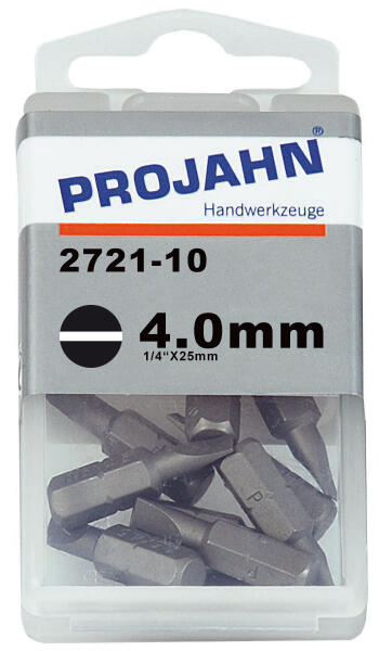 PROJAHN Plus 1/4 Bit Schlitz 4,0 mm L25 mm 10er-Pack