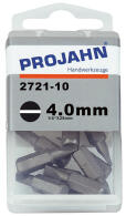 "PROJAHN Plus 1/4"" Bit Schlitz 4,0 mm L25 mm 10er-Pack"