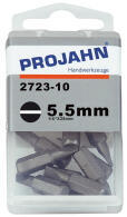"PROJAHN Plus 1/4"" Bit Schlitz 5,5 mm L25 mm 10er-Pack"