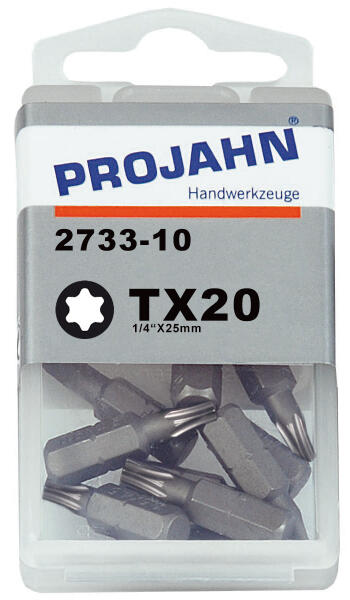 "PROJAHN Plus 1/4"" Bit TORX® TX20 L25 mm 10er-Pack"