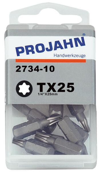 """PROJAHN Plus 1/4"""" Bit TORX® TX25 L25 mm 10er-Pack"""