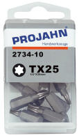 "PROJAHN Plus 1/4"" Bit TORX® TX25 L25 mm 10er-Pack"