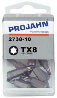 "PROJAHN Plus 1/4"" Bit TORX® TX8 L25 mm 10er-Pack"