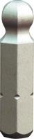"""PROJAHN Plus 1/4"""" Bit Innensechskant Kugelkopf 5,0 mm L25 mm 10er-Pack"""