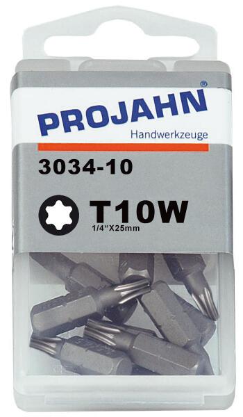 """PROJAHN Plus 1/4"""" Bit TORX® TX T10W konisch L25 mm 10er-Pack"""