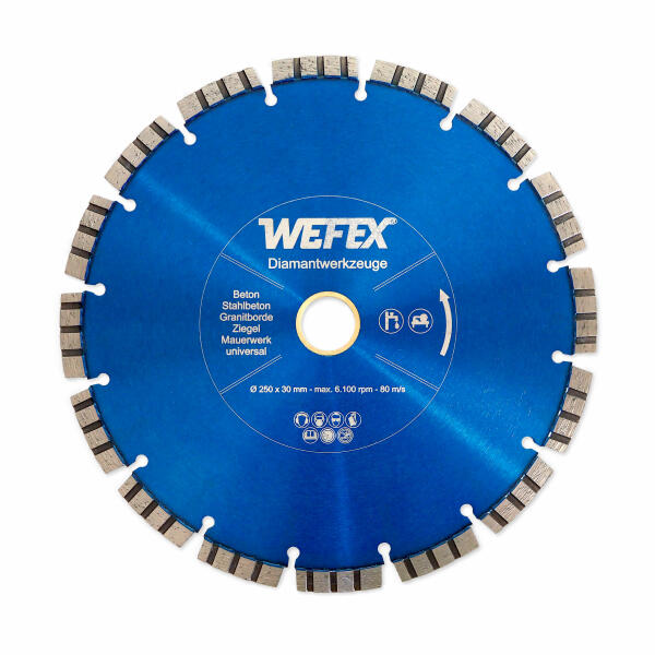 Diamant-Trennscheibe Laser-Turbo Ø 250 - 800 mm Aufnahme 25,4 mm