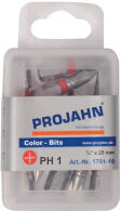 PROJAHN Color-Ring 1/4 markierter Bit PH1 L25 mm Phillips...
