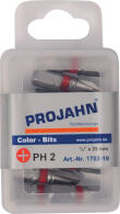 PROJAHN Color-Ring 1/4 markierter Bit PH2 L25 mm Phillips...