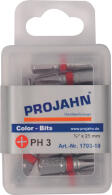 "PROJAHN Color-Ring 1/4"" markierter Bit PH3 L25 mm..."