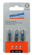 """PROJAHN Color-Ring 1/4"""" markierter Bit PZ1 L25 mm Pozidriv Nr. 1 3er-Pack"""