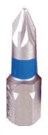 """PROJAHN Color-Ring 1/4"""" markierter Bit PZ1 L25 mm Pozidriv Nr. 1 10er-Pack"""