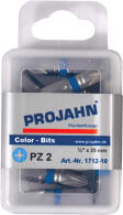 "PROJAHN Color-Ring 1/4"" markierter Bit PZ2 L25 mm..."
