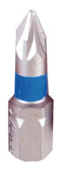 """PROJAHN Color-Ring 1/4"""" markierter Bit PZ3 L25 mm Pozidriv Nr. 3 10er-Pack"""
