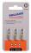 """PROJAHN Color-Ring 1/4"""" markierter Bit TORX® TX10 L25 mm 3er-Pack"""
