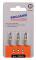 """PROJAHN Color-Ring 1/4"""" markierter Bit TORX® TX20 L25 mm 3er-Pack"""