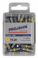 """PROJAHN Color-Ring 1/4"""" markierter Bit TORX® TX20 L25 mm 50er-Pack"""