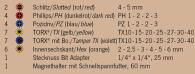 """PROJAHN Color 1/4"""" Bit Box Satz 1/4"""" mit markierten Bits 32-tlg."""