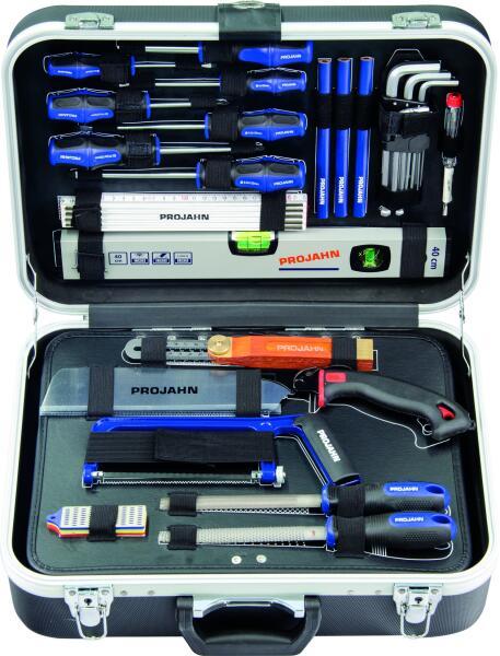 """PROJAHN proficraft Werkzeug-Koffer Schreiner 1/4"""" 92-tlg."""