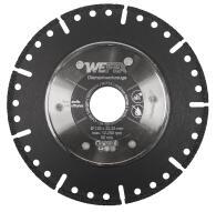 Diamant-Trennscheibe/Anfasscheibe Kombi-Star Ø 125 mm Aufnahme 22,2 mm für KG/HT Rohre