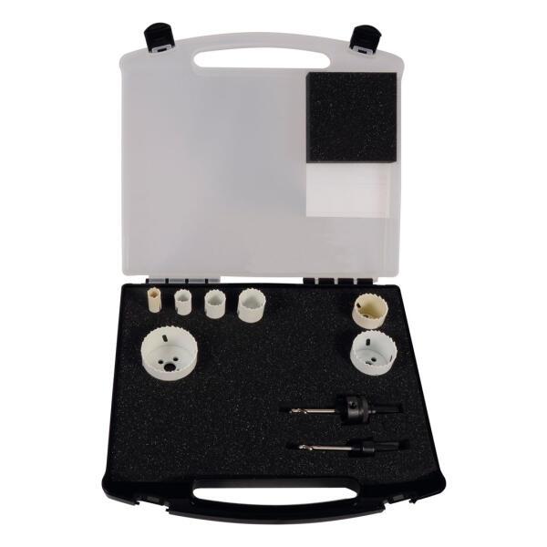PROJAHN HSS-Co Bi-Metall Lochsägen Set Elektro II 9-tlg. im Koffer