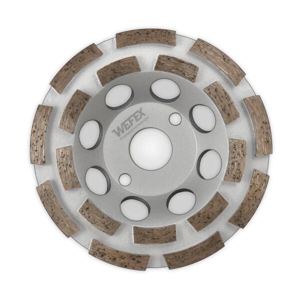 Diamant-Topfschleifer Beton doppelreihig Ø 100 - 125 mm Aufnahme 22,2 mm Bauhöhe 22 mm