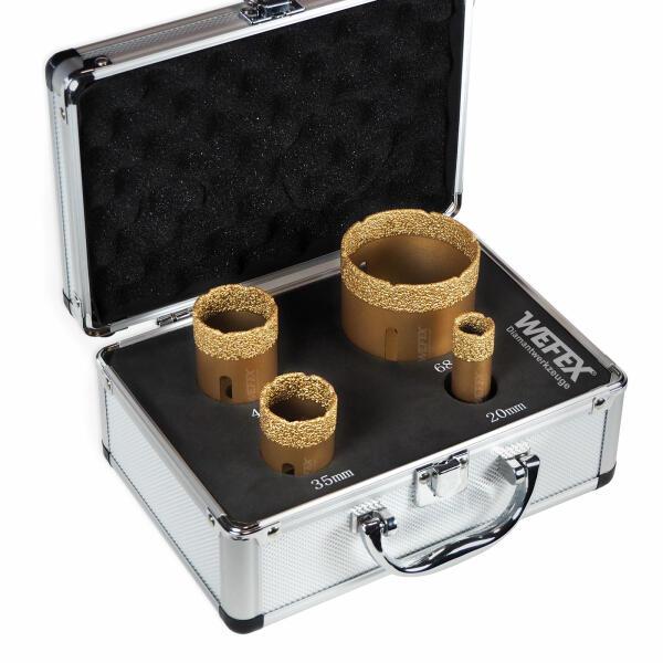 40 35 50 Diamantbohrkronen Fliesen-Bohrkronen Set 5-teiliges /Ø 20 68mm