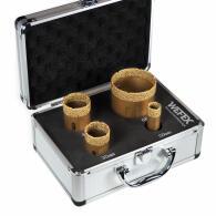 Diamant-Fliesenbohrkronen Set 4-tlg. Vakuum Premium M14...