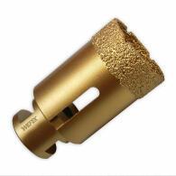 Diamant-Fliesenbohrkronen Set 4-tlg. Vakuum Premium M14 im Koffer