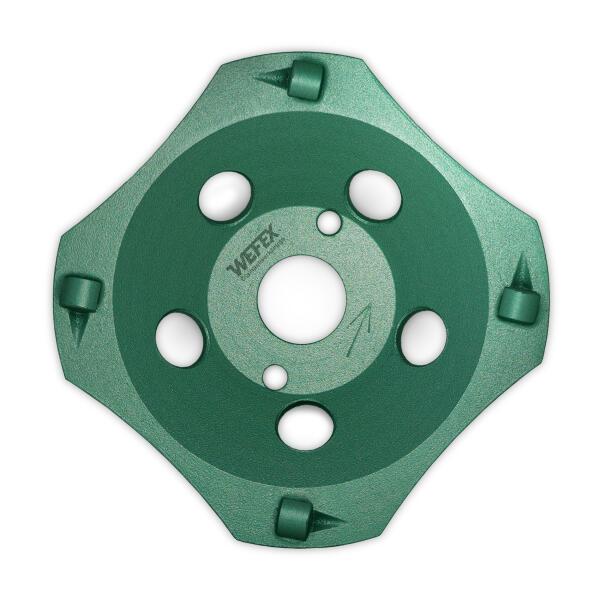 Diamant-Schleifteller PKD-Cup 4 Segmente Ø 125 mm Aufnahme 22,2 mm Bauhöhe 21 mm