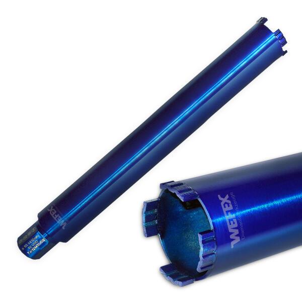 "Diamant-Trockenbohrkrone Blue Star Ø 52 - 200 mm 1 1/4"" UNC Nutzlänge 400 mm"