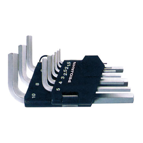 PROJAHN Winkelstiftschlüssel-Satz 9-tlg. kurze Form Sechskant 1,5-10 mm