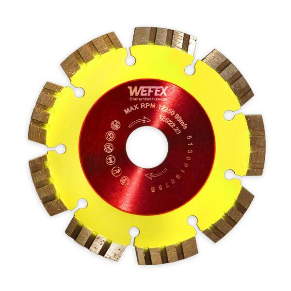 Diamant-Trennscheibe Flüster-Blatt Beton Ø 125 mm Aufnahme 22,2 mm
