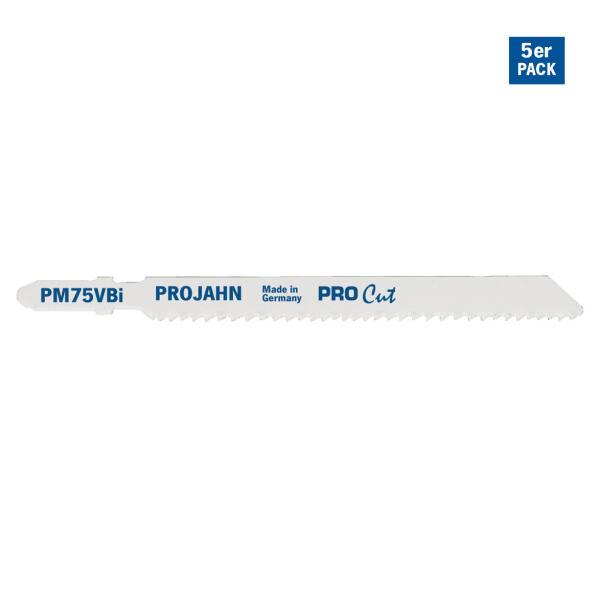 PROJAHN Stichsägeblatt Metall 75 mm mit Einnockenschaft 5er Pack