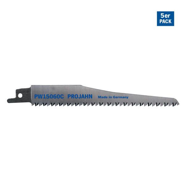 PROJAHN Säbelsägeblatt Holz/Kunststoff 130 mm mit Universalschaft 5er Pack