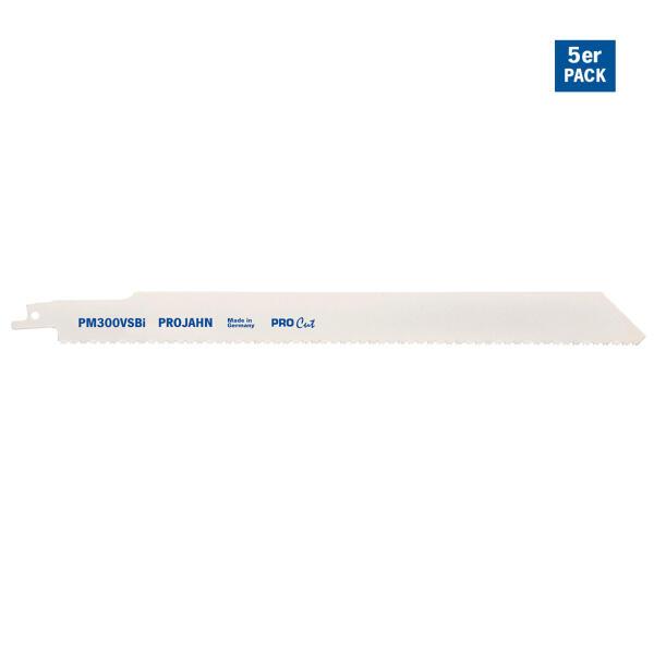 PROJAHN Säbelsägeblatt Holz/Metall 280 mm mit Universalschaft 5er Pack