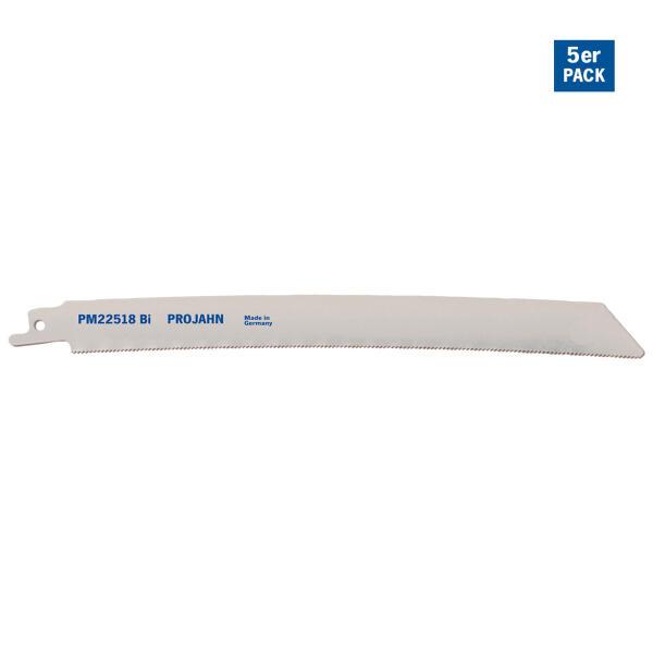 PROJAHN Spezial-Säbelsägeblatt Metall 205 mm mit Universalschaft 5er Pack