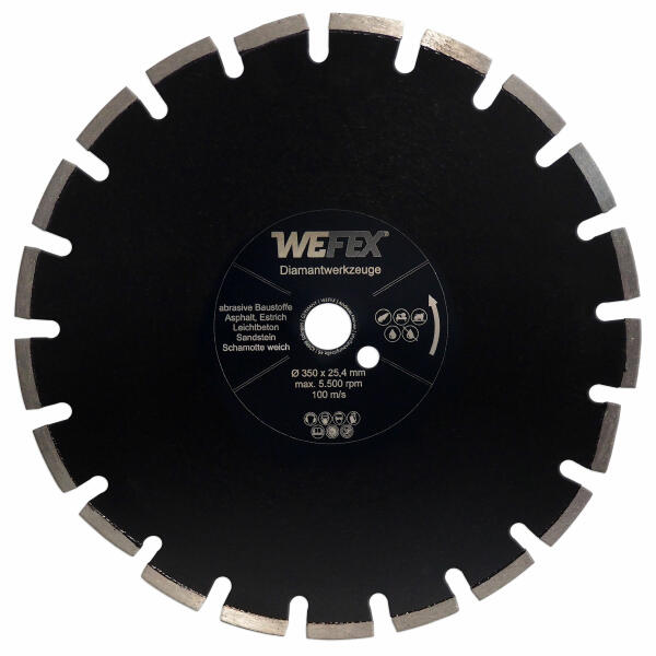 Diamant-Trennscheibe Asphalt-Profi Ø 350 - 400 mm Aufnahme 25,4 mm