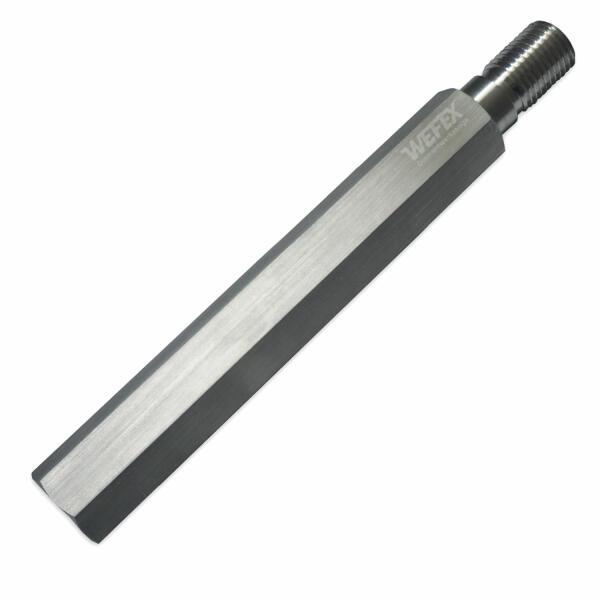 """Aluminium-Bohrkronenverlängerung 400 mm 1 1/4"""" UNC"""