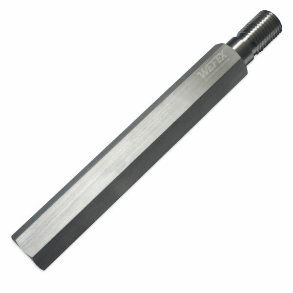 """Aluminium-Bohrkronenverlängerung 500 mm 1 1/4"""" UNC"""