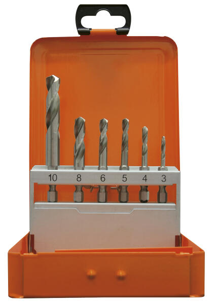 """PROJAHN Spiralbohrer Set 6-tlg. HSS-G Ø 3 - 10 mm 1/4"""" 6-kant Schaft"""